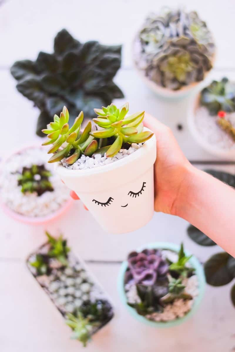 diy painted pot for teen crafts