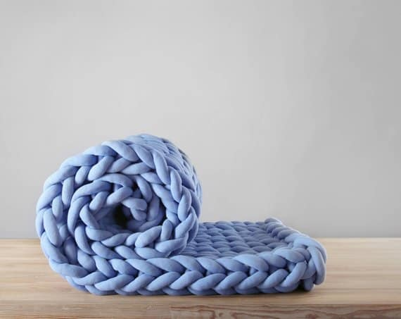 Ohhio braid chunky blanket