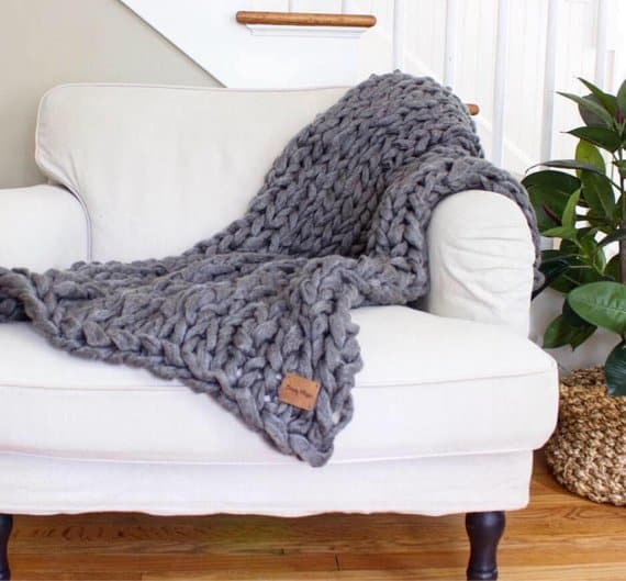 simply Maggie chunky knit blanket
