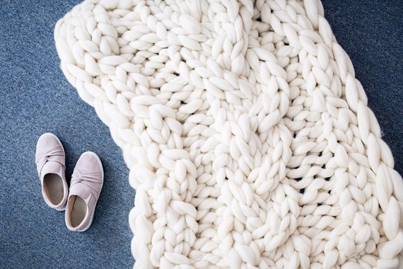 cable knit chunky blanket