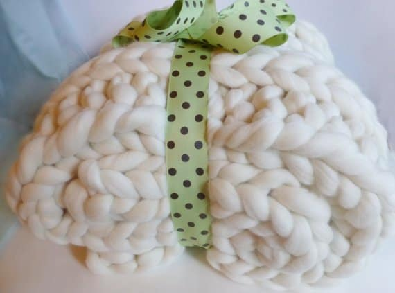color ways chunky knit blanket