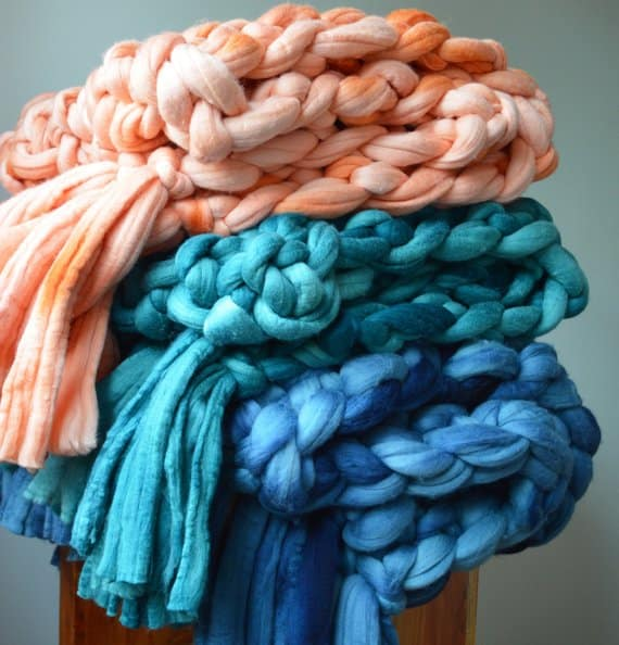 jumbo knitted blanket