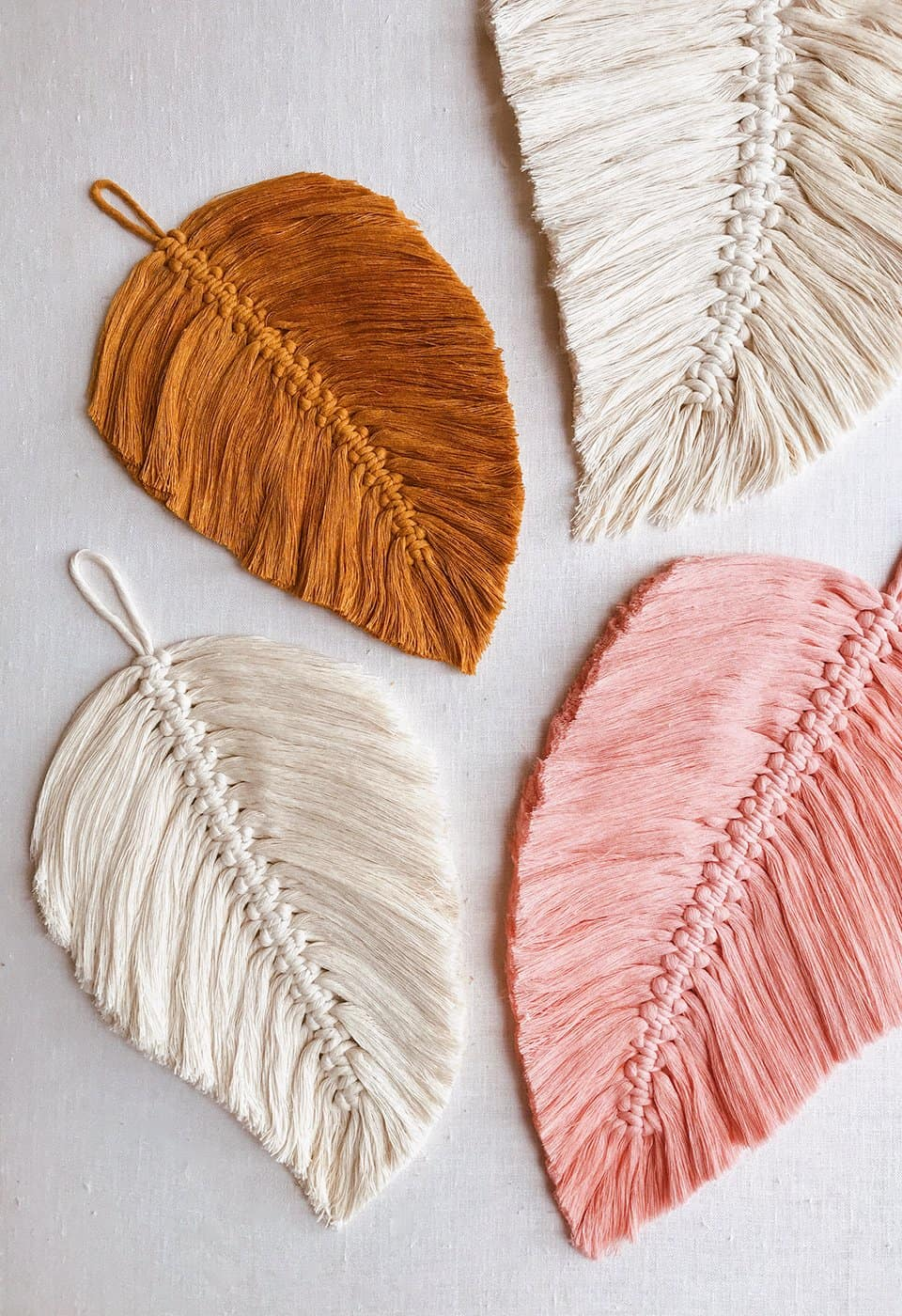 diy macrame feathers for fun crafts for teens