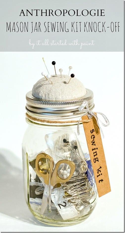 sewing mason jar