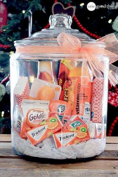 orange gift jar