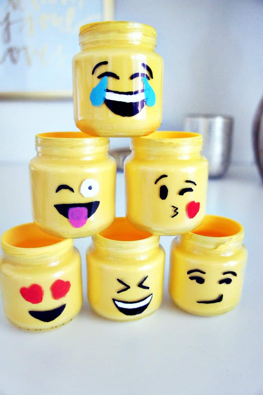 emoji mason jars make great teen art projects