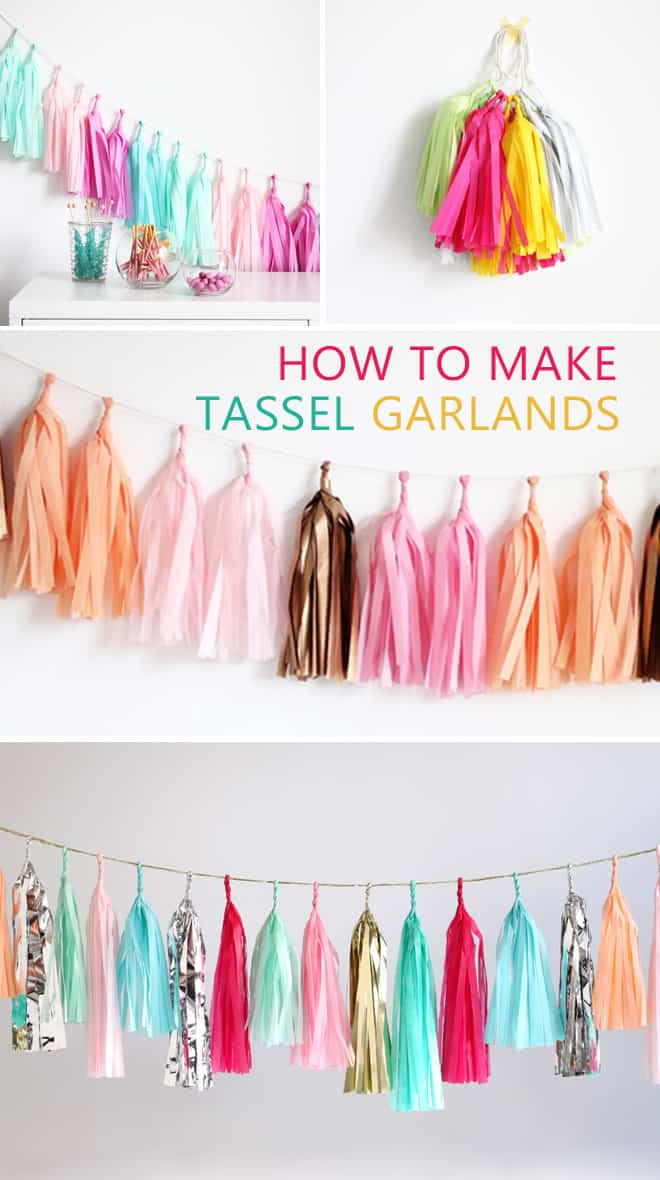 tassel garland diy makes a great craft for teens