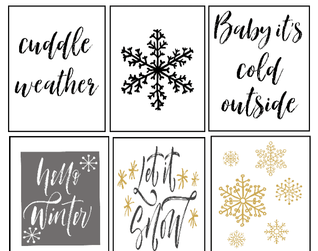 9 Free Winter Printables That Make Easy Cozy Season Wall Art