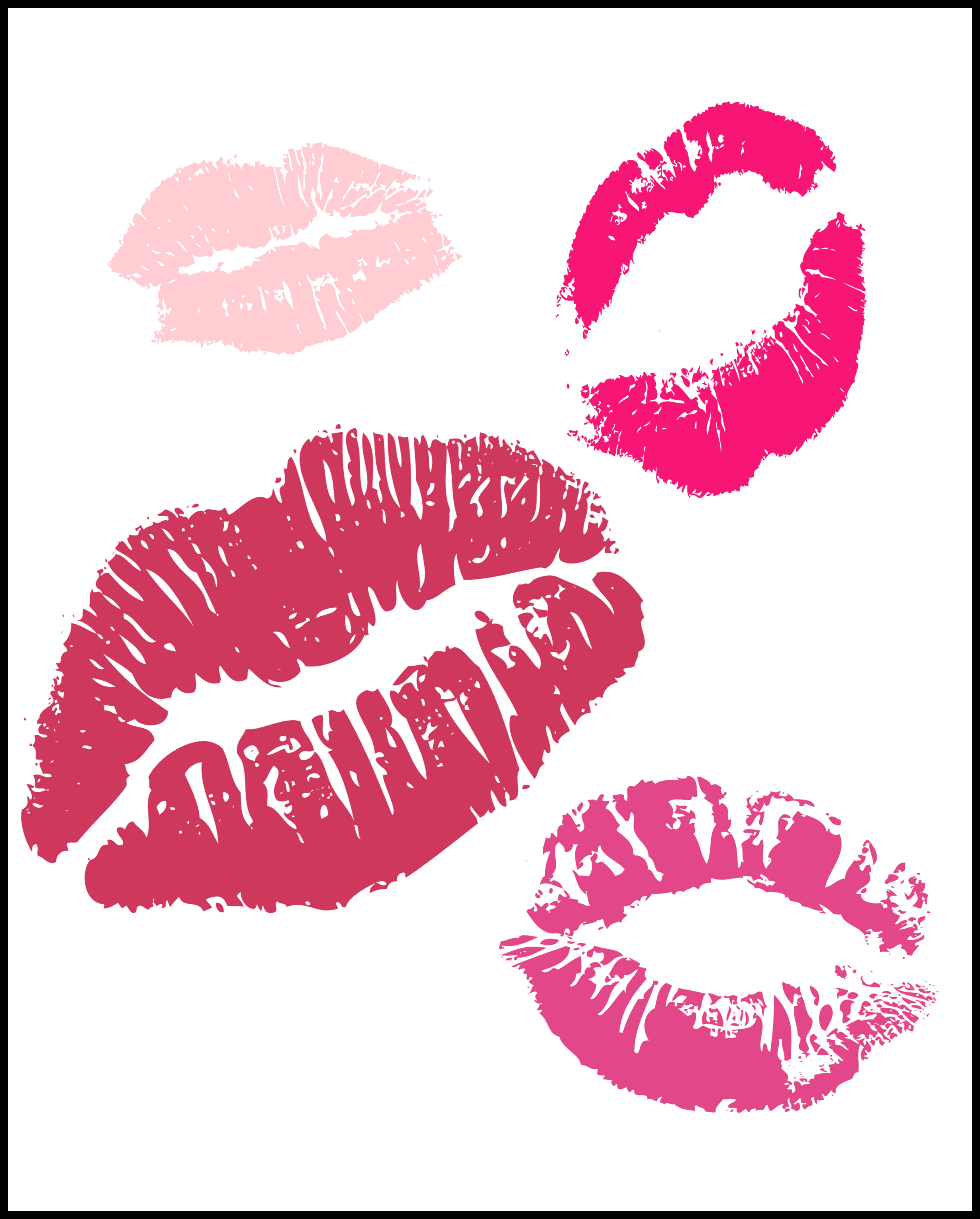 lips valentines day printables