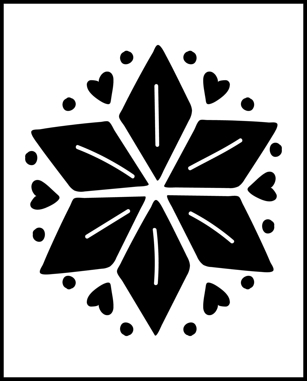 Free Scandinavian star art print