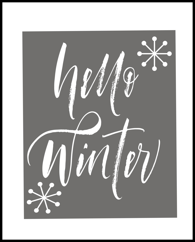 hello winter wall art