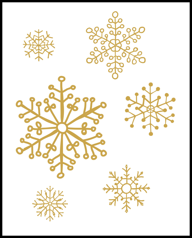 snowflake wall art gold