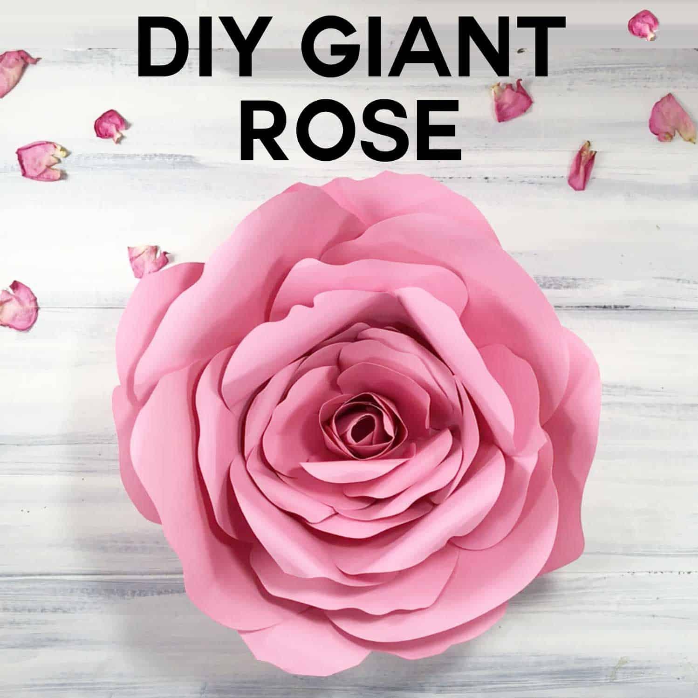 diy giant paper rose tutorial