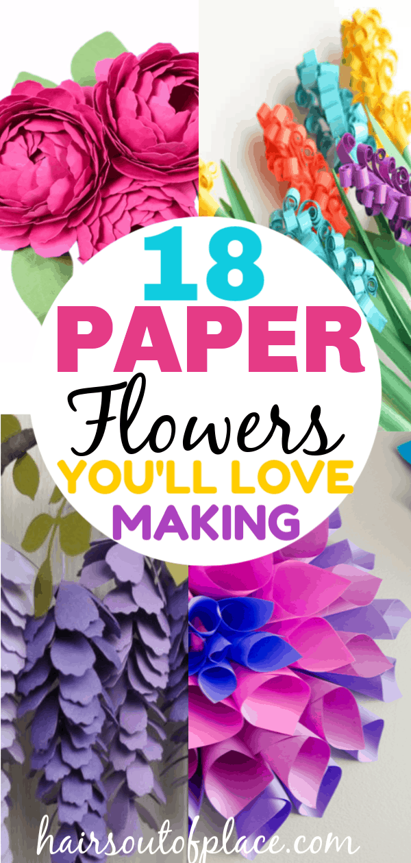 18 DIY paper flowers you'll love to make