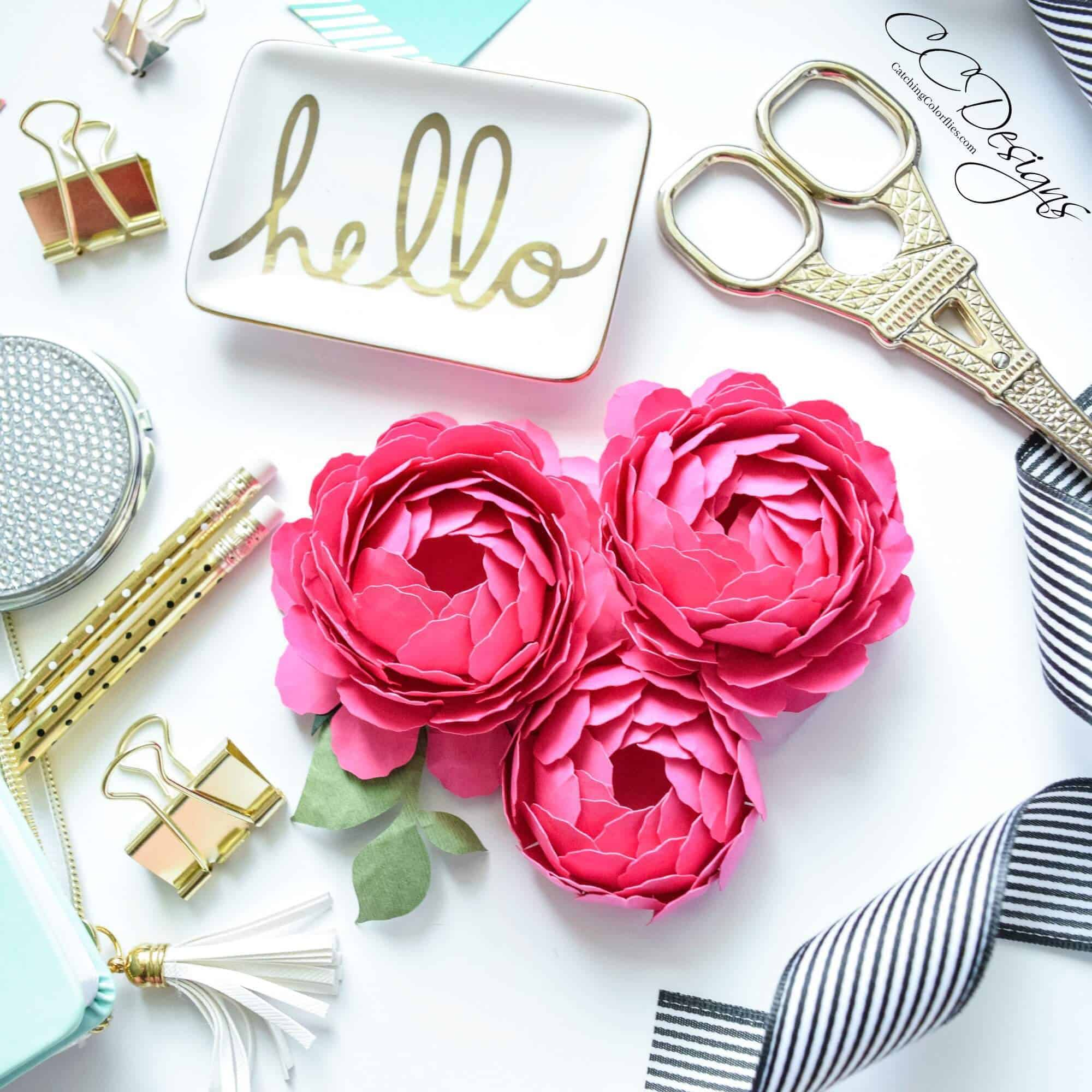 how to make peony paper flowers