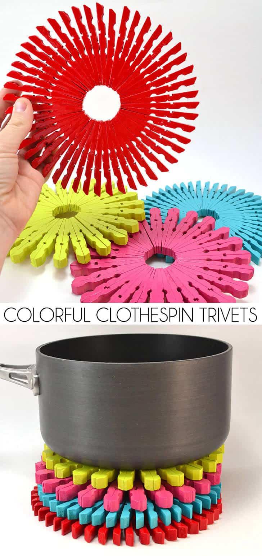 clothespin trivet