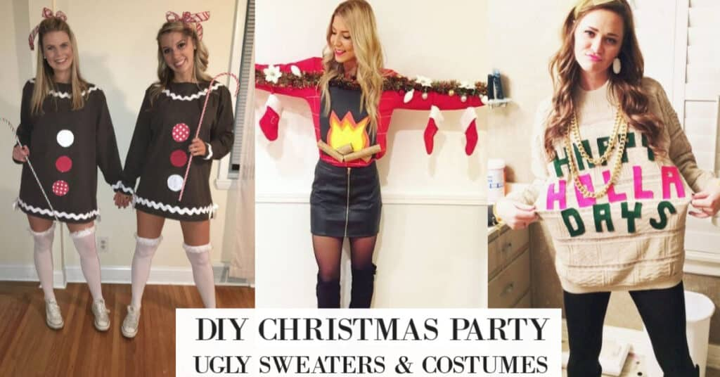 20 Best DIY Ugly Christmas Sweater Ideas (DressesOutfits too)