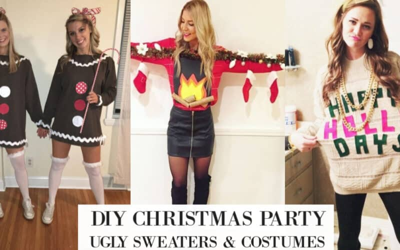 20 Best DIY Ugly Christmas Sweater Ideas (Dresses/Outfits too)