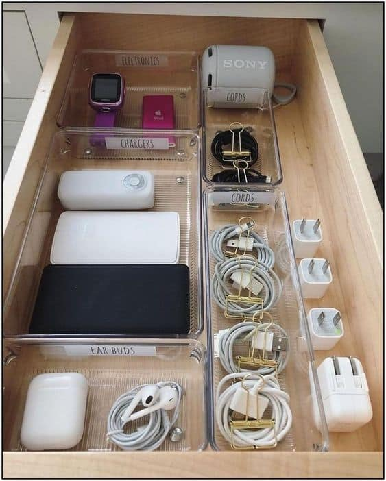 having organized college drawers helps with small space dorm storage hacks