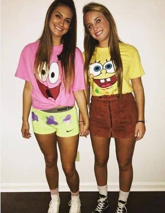cute halloween costumes for teens SpongeBob and Patrick