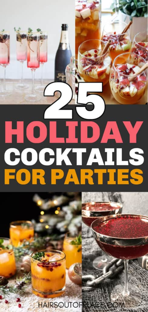 best holiday cocktail recipes Pinterest pin