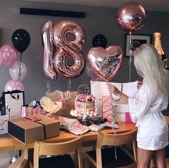 18th birthday ideas for you birthday display