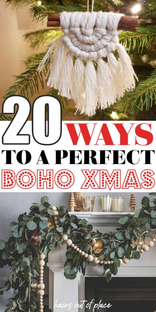 boho christmas pinterest pin