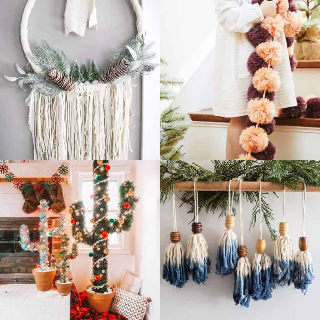 boho Christmas ideas collage