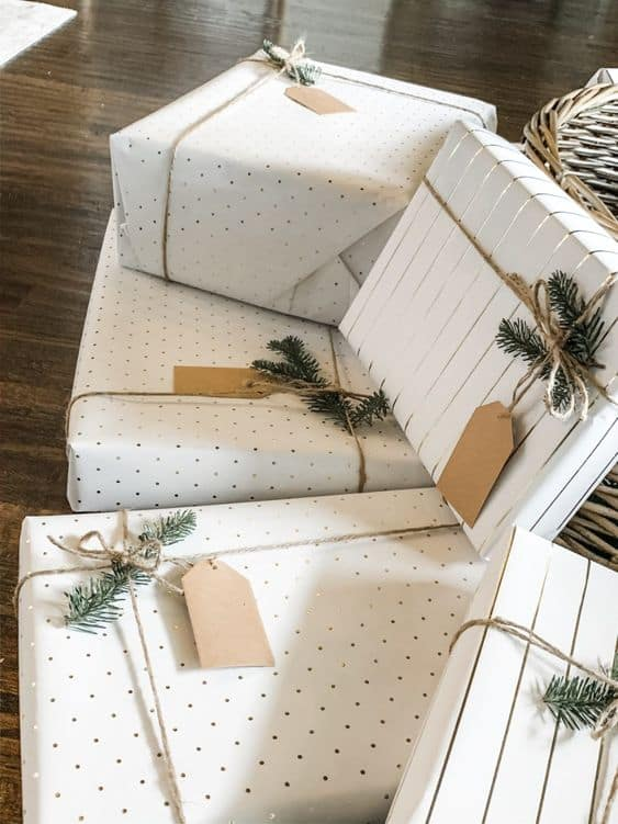 boho ideas for the holidays cute gift wrapping