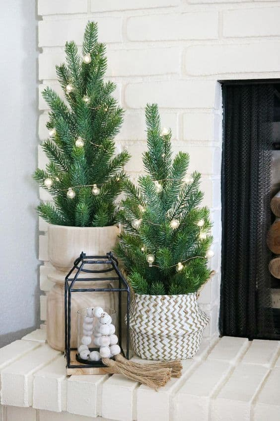 christmas boho ideas cute plant decor