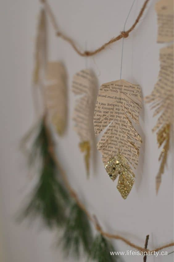 christmas ideas cute boho diy leaves