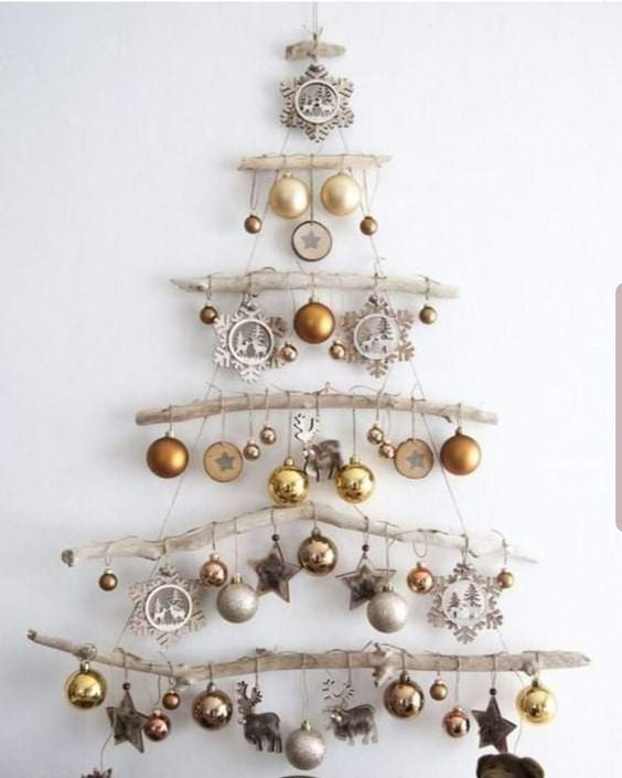 cute boho holiday ideas wall tree