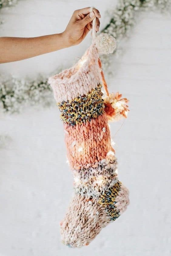 cute boho ideas for christmas stocking