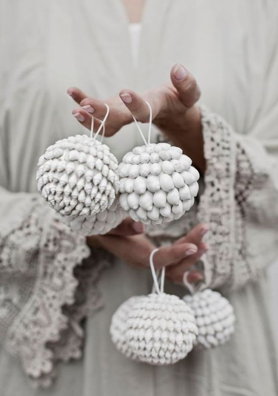 cute christmas boho ideas white ornament