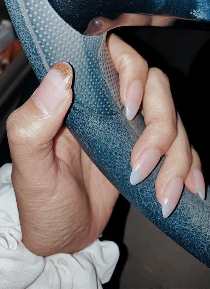 holiday nails girls will love clear and gold tips