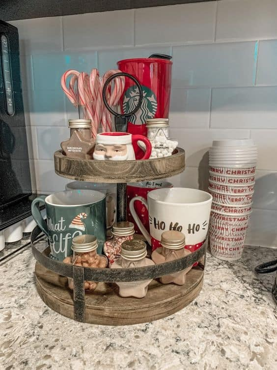 small apartment decor ideas ho ho ho mugs