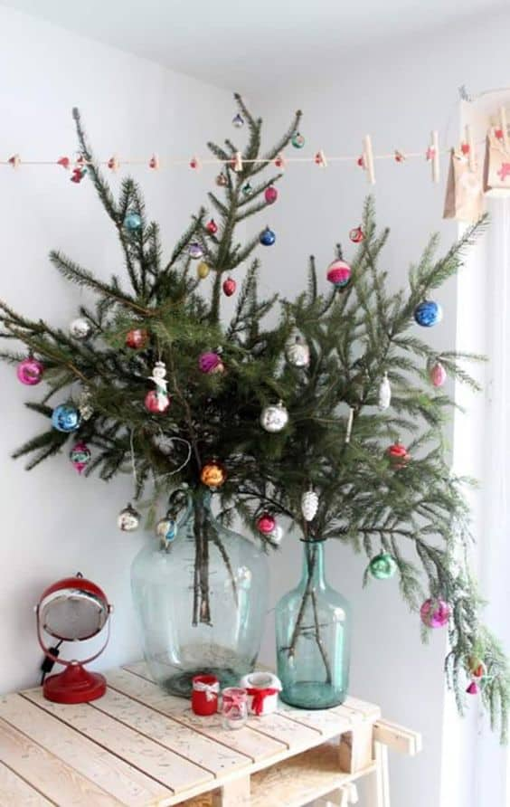 small apartment decor ideas mini christmas tree