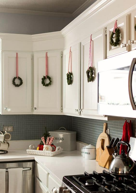 small apartment ideas christmas hanging mini wreaths