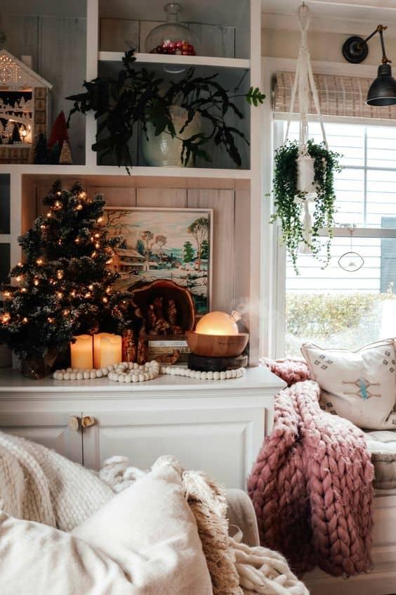 small space cute christmas decor living area decor