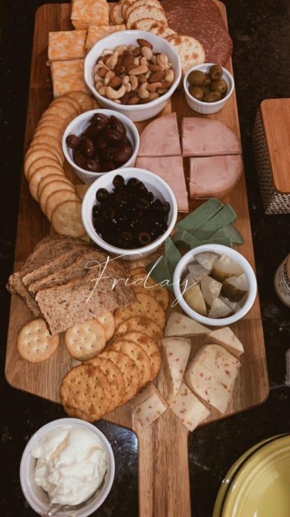 charcuterie board food bar diy dinner