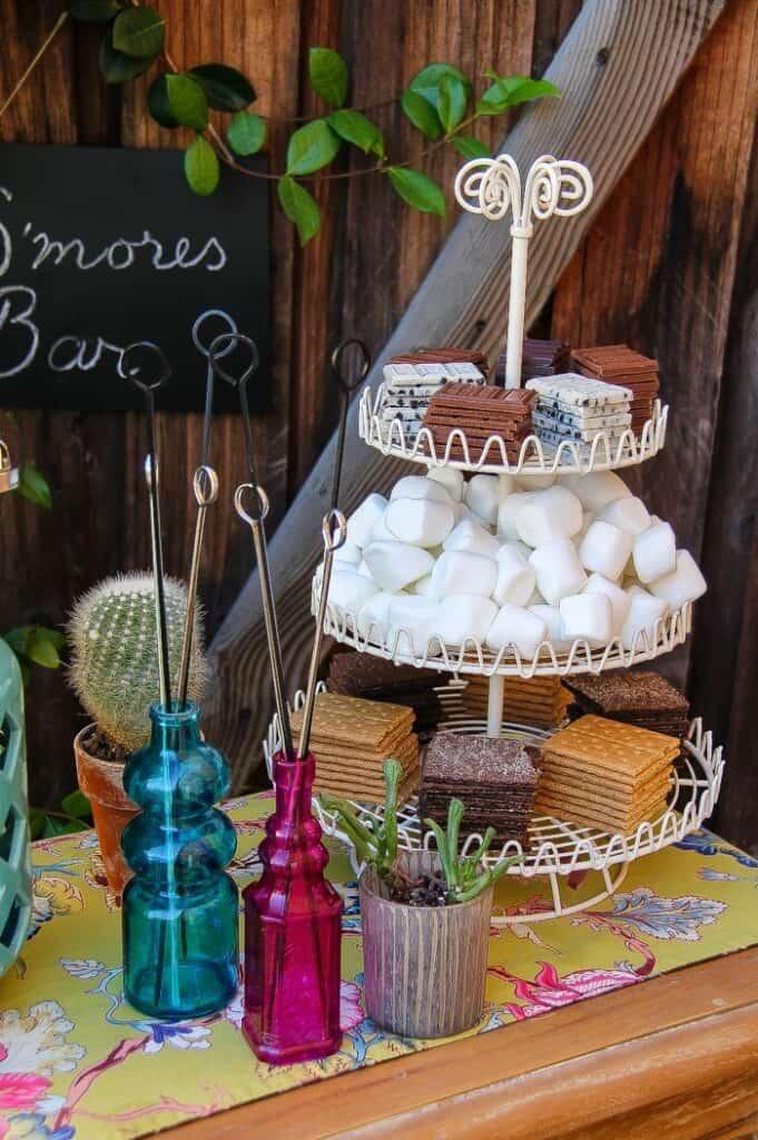 cute food bar ideas friends will love smores bar