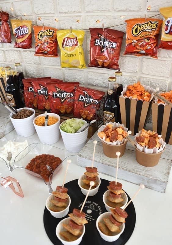 food bar ideas friends will love taco chip bag store