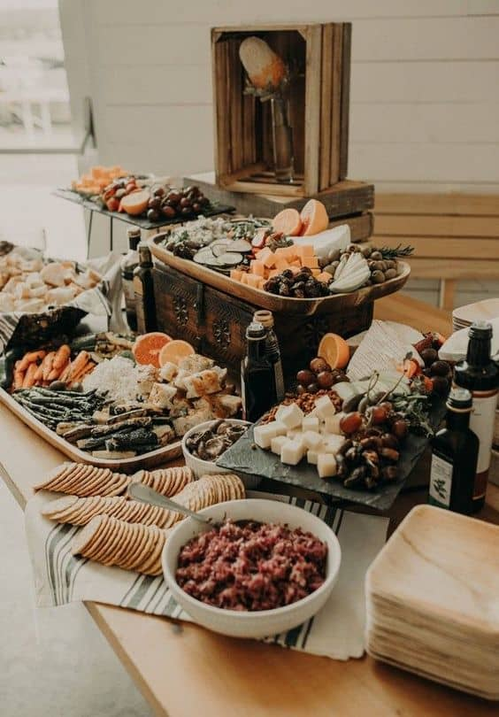 food bar ideas party starter charcuterie board