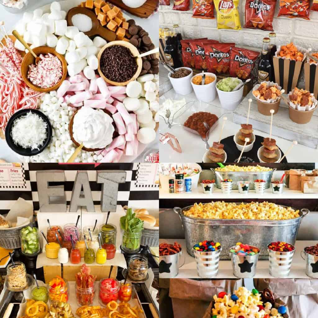 food bar ideas from Pinterest collage