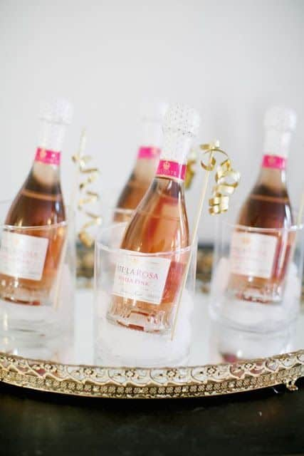 fun ideas nye party mini champagne