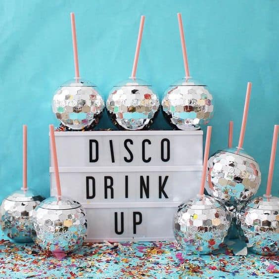 fun party for nye disco sign