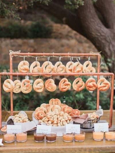 ideas for cute food bar pretzel stand