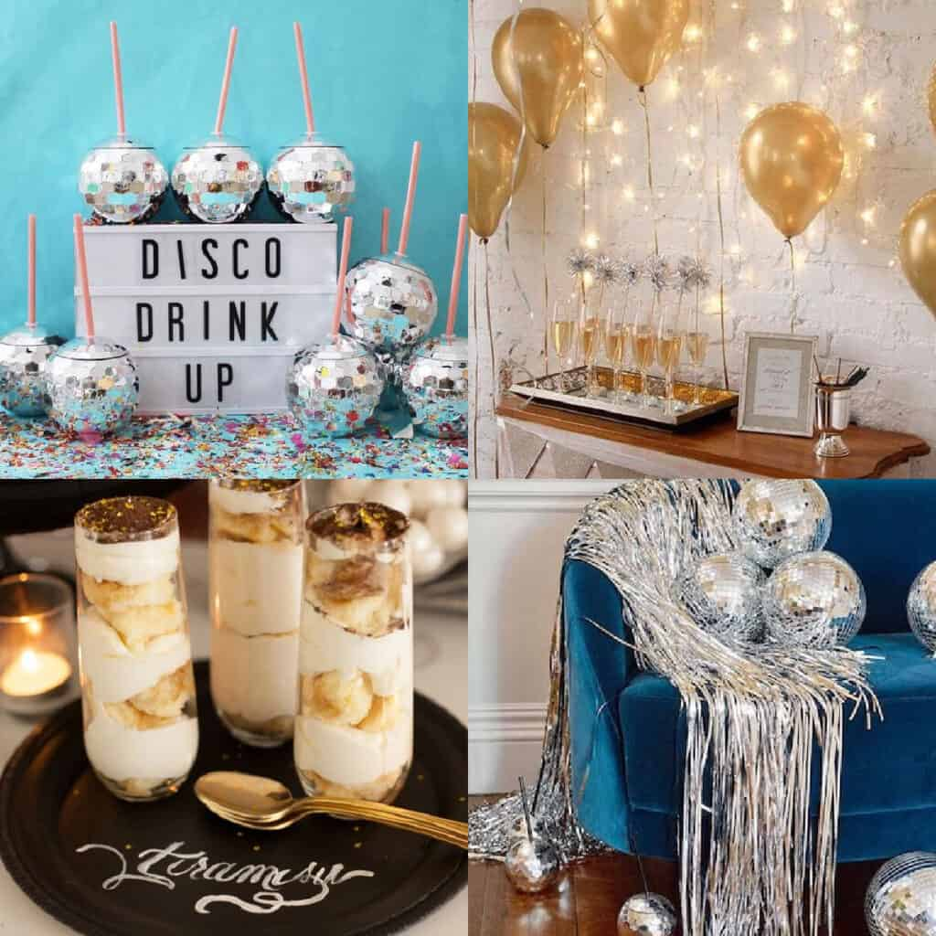 new years eve party ideas collage