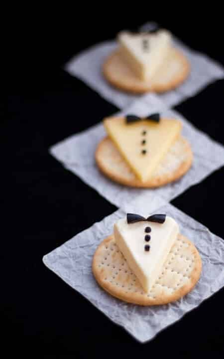 party inspo for nye cute tuxedo snacks