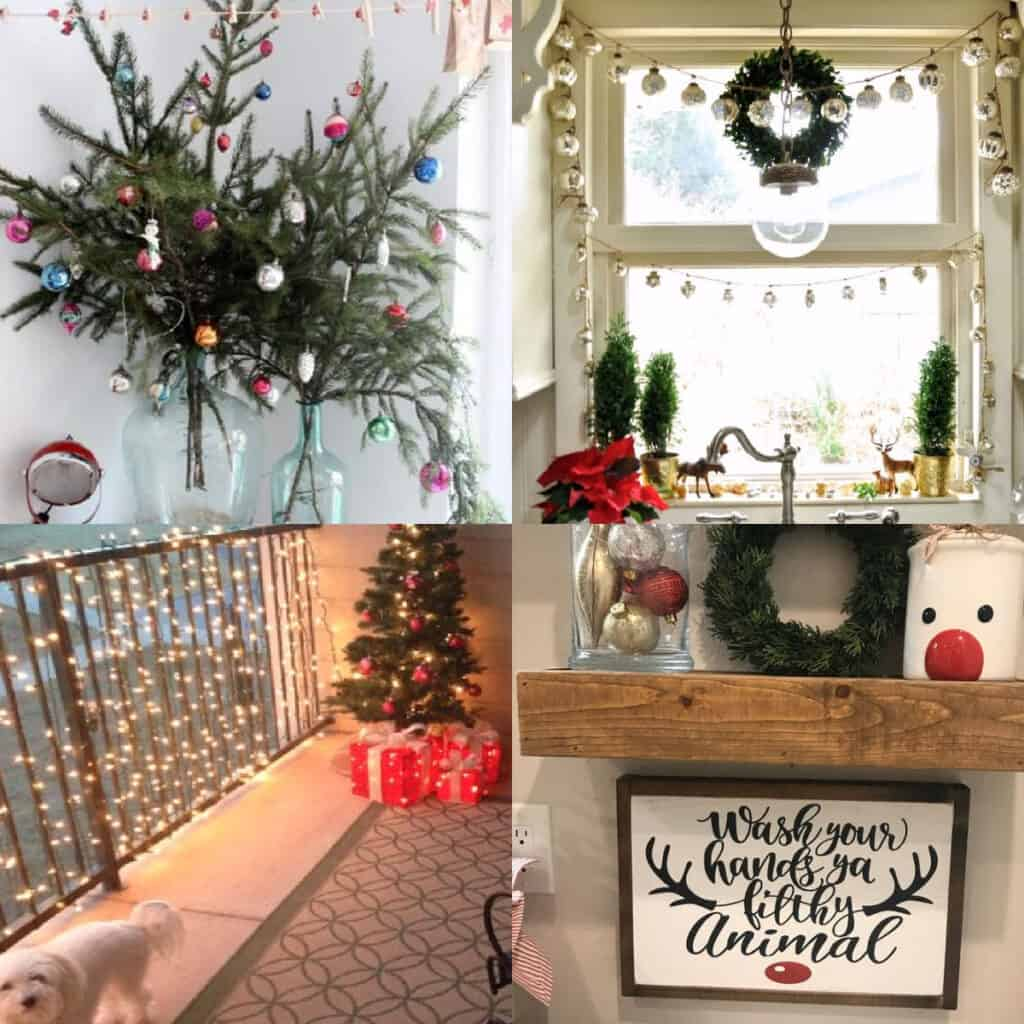 small apartment christmas decorating pinterest ideas collage